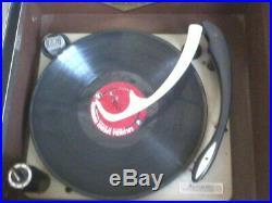 1960'S Magnavox HiFi Stereo Am/Fm Radio Record Player Console Cabinet