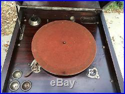 Antique Crank Sonora Mechanical INTERMEZZO Phonograph Record Player Victrola