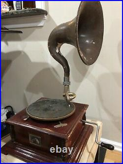 Antique Gramophone Co. His Master's Voice Sound Box Record Player