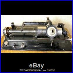 Antique Oak Edison Home Cylinder Record Player Victrola