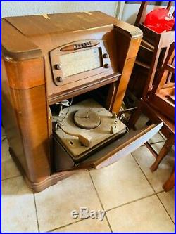 Antique Original Philco tube Radio and Record Player 1947 Model 47-1230