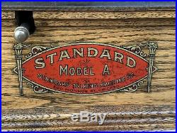 Antique STANDARD MODEL A DISC Columbia PHONOGRAPH Record Player Red Or Blue Hor
