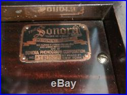 Antique Sonora Phonograph Victrola Wind Up Record Player
