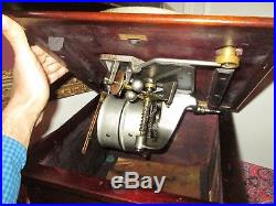 Antique Victor IV Talking Machine Record Player Phonograph Re-built Motor Nice