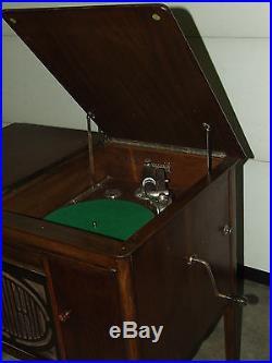 Antique Working 1920's BRUNSWICK Lowboy Ultona Wind-Up Phonograph Record Player