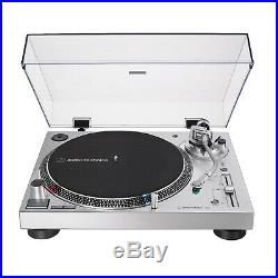 Audio-Technica AT-LP120X-USB Direct-Drive Analog and USB Turntable (Silver)