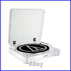 Audio Technica Fully Automatic Stereo Record Player Bluetooth Turntable, White