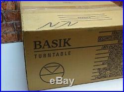 BOXED! Linn Basik Vintage Hi Fi Separates Vinyl Turntable Record Player Deck