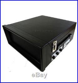 Black Steepletone SRP1R 11 Record Player & Radio 33,45,78 3 Speed Turntable USB