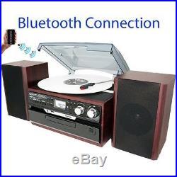 Boytone BT-24DJM Stereo System Record Player Bluetooth CD Cassette REFURBISHED