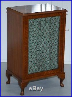 Burr Walnut MID Century Modern Dynatron Hambledon Record Player Cabinet Speakers