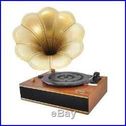 Classic Edison Style Horn Phonograph / Turntable Record Player PC Recording