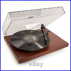 Crosley C10 Turntable Record Player Vinyl 2 Speed Manual Belt Drive Mahogany New