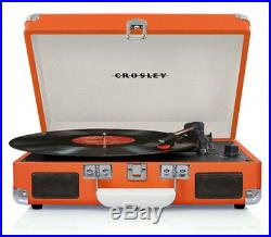 Crosley CR8005A-OR Cruiser 3 Speed Portable Turntable Record Player ORANGE Vinyl