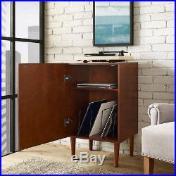 Crosley Mid Century Modern Everett Record Player Turntable Stand Storage Cabinet