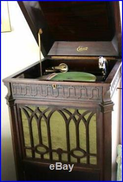 Edison C19 C 19 Crank Style Phonograph Record Player Diamond Disc Key Manual
