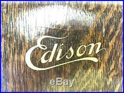 Edison GEM 2/4 Min Maroon Model D Phonograph Cylinder Record Player