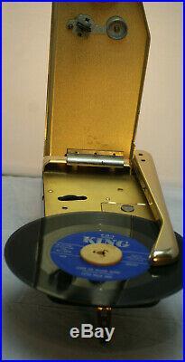 Emerson Wondergram Turntable Record Player 33 45 Battery Gold Vintage Rare
