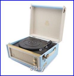 GPO Bermuda Turntable Blue Record Player RRP £169.99