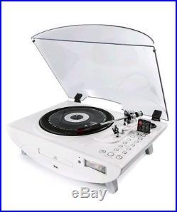 GPO Jive Turntable Record Player CD Mp3 FM Radio Save Vinyl