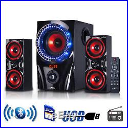 Home Theater Stereo Audio System Bass Sound Speakers Wireless Bluetooth USB FM