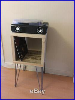 Industrial Record Player Stand, Storage Record Cabinet, TV Unit, Hairpin Legs