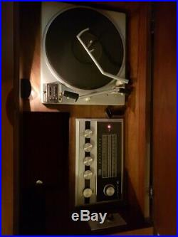 Mid Century Danish Modern RCA Victor Console Stereo Record Player