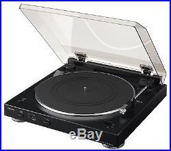 NEW Denon DP-200USB Turntable Black Record Player Vinyl USB MP3 Track Recorder