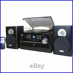 NEW Jensen AM/FM Radio 3-Speed Turntable/CD/Cassette/Record Player Stereo Vinyl