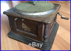 Old Vtg Antique Colombia Graphophone Phonograph Record Player Turntable Music