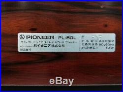 Pioneer PL-50L Direct Drive Record Player Turntable in Excellent Condition
