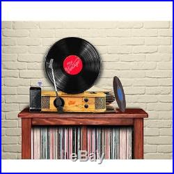Pyle PLTT21BT Vintage Style BT Turntable Classic Vertical/Standing Record Player