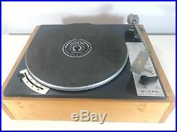 RARE VINTAGE LENCO BOGEN B62 L70 turntable record player SWISS MADE