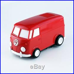 RECORD RUNNER Volkswagen Type2 cherry Red Portable Record Player Japan NEW