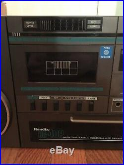Randix HG-40P Boombox Record Player Radio Old Extremely Rare Antique