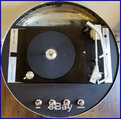 Rare 1968 Mid-20 Century Domed Electrohome Apollo Record Player 860 Working