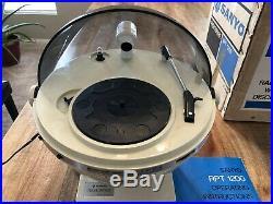 Rare Sanyo Phonosphere Record Player Radio 1970s Space Age Helmet Phonosphere