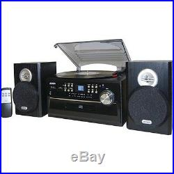 Record Player Home Stereo System With Cassette Speakers CD Players Jensen Compac