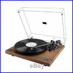 Record Player Vintage 2-Speed Vinyl Turntable Built in Stereo Speaker US Stock