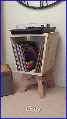 Retro Handmade Vintage Record Player Table / Small Table