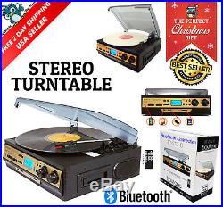 Retro Vintage Radio Cassette MP3 Record Player Turntable Vinyl LP Bluetooth