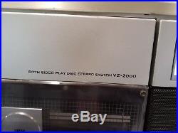 Sharp VZ-2000 Cassette/Radio Boombox / full size record player