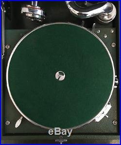 Superb Vintage Original HMV Portable Wind Up Gramophone Record Player 97C Green