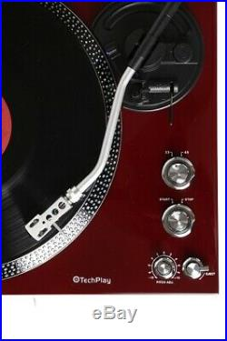 TechPlay TCP4530 CHE Record Player Turntable 33 45 RPM Belt Drive RCA Out NEW
