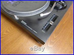 Technics SL-1200MK3 Black Analog DJ Turntable Pair Set Record Player Working Use
