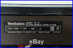 Technics SL-3 Tangential Plattenspieler Turntable Linear Tracking Record Player