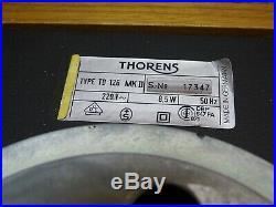 Thorens TD126 MK II Vintage 2 Speed Belt Drive Turntable Record Player Deck