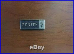 VINTAGE! Mid Century Modern Zenith stereo console am/fm radio, record player