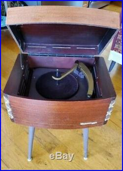 VTG Columbia Record Player RESTORED Tube Amplified