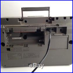 VTG Panasonic SG-J500 Boombox AM/FM Radio Record Player Cassette TESTED WORKS